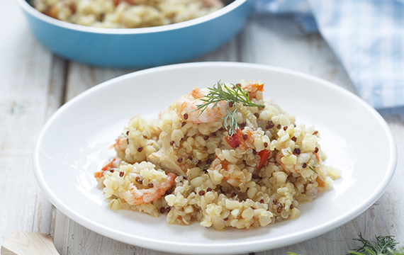 Pineapple and Shrimp Fried Quinoa | Recipes by WOMEN'S BEST